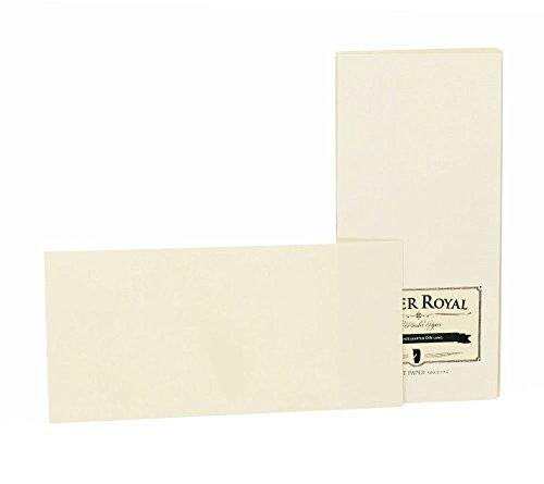 Rössler 2051831008 - Paper Royal - Einzelkarten-Pack DINlang, 20 Stück, chamois gerippt