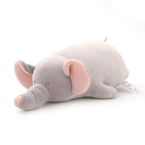 Niuniu Daddy 20 Inch Stuffed Animal Elephant Plush Toy Adorable Cuddly Hugging Pillow Soft Plushie Body Pillow for Kids Birthday Gift