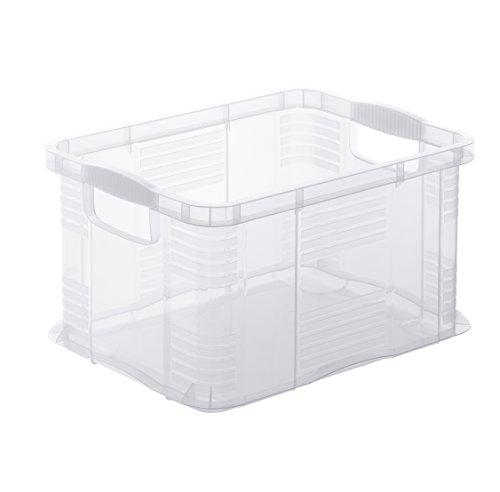 Rotho Agilo Aufbewahrungsbox 6 l, Kunststoff (PP), transparent, 6 Liter / A5 (29 x 19 x 15,5 cm)