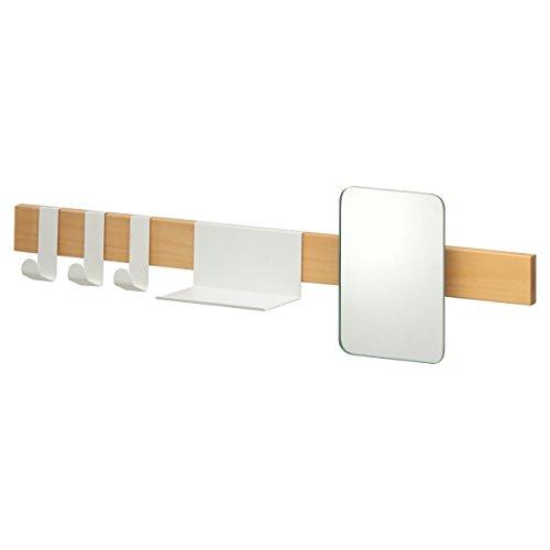 Sealskin Brix Kapstok Met Spiegel, Metaal, Wit, 72 x 20 x 12,5 Cm