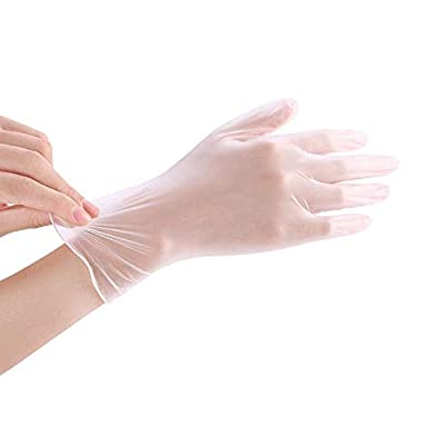 Disposable Vinyl Gloves Small 100-Count, Non Sterile Powder Free Latex Free Exam Gloves, Cleaning Supplies, Kitchen and Food Safe, Ambidextrous Industrial Gloves