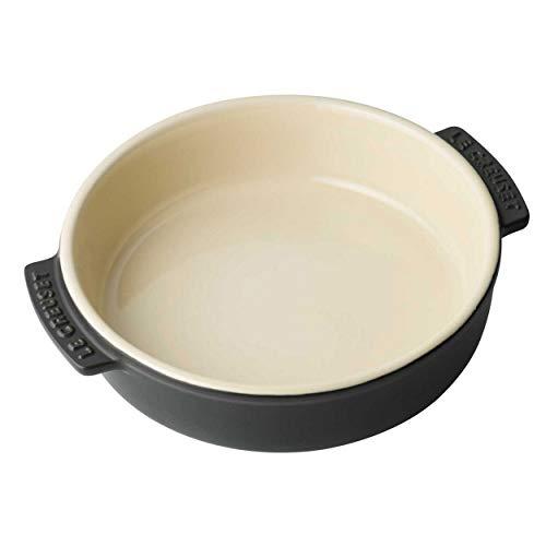 Le Creuset, Plat à Tapas, Rond, 500 ml, Ø 14 cm, Céramique, Noir