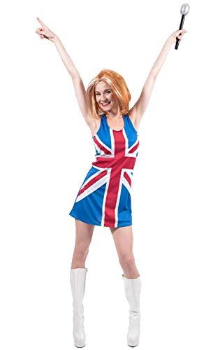 ORION COSTUMES Disfraz de Chica Spice con la Bandera Britnica para Mujeres