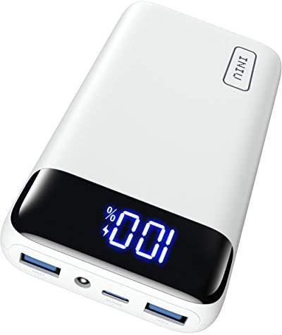 INIU Power Bank, 20W PD3.0 QC4.0 Fast Charging LED Display 20000mAh Portable Charger, 3A Outputs Flashlight Phone Battery Pack Compatible with iPhone Samsung Xiaomi Huawei iPad Tablet [2021 Version]