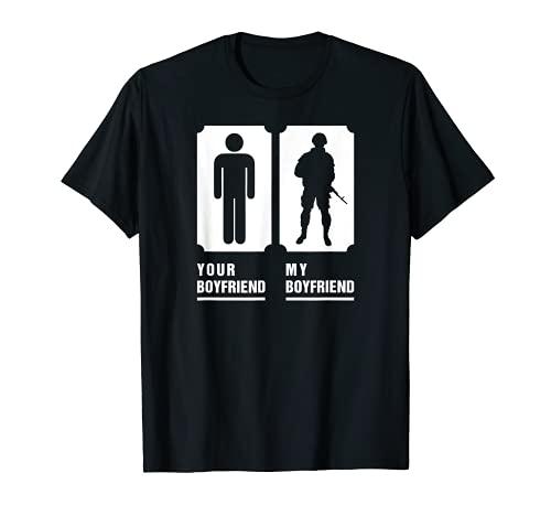 My Boyfriend Is In Army Tee Military Proud Girlfriend Shirt