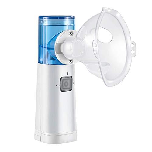 HHJY-Tragbarer Inhalator Vernebler Professioneller Ultraschall-Verdampfer Für Kinder Erwachsene Coole Nebelmaschine Für Reisen Und Den Täglichen Gebrauch Zu Hause 2 Masken Weiß