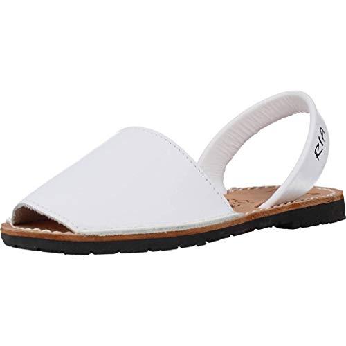 RIA MENORCA Scarpe Sandalo Donna 20002-S2 Box Calf Blanco Primavera Estate 2018