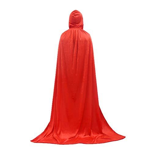 Mago de Capucha del Cabo en 4 Colores Diferentes - una Talla para Todos los Adultos 165cm-180cm Halloween, Carnaval o Cosplay (Style 3)