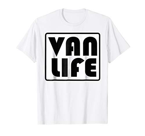 VAN LIFE OFFICAL BRAND PROMO VINTAGE LOGO light color Tee