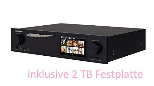 CocktailAudio X40 All-in-One HD Musikserver (Netzwerk Streamer/Streaming -Client, CD Ripper, DAC) schwarz inkl. 2TB 3,