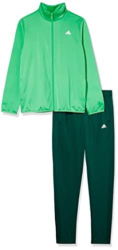 adidas, B Tr Ts , Tuta Da Ginnastica, Top: Semi Urlando Verde / Bianco Di Fondo: Collegiata Verde / Bianco, 910A, Unisex Bambino