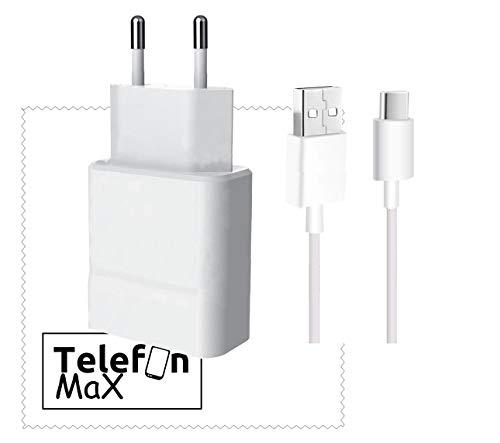 TELEFONMAX Ladegerät für Original Huawei 2A Weiß/Ladekabel AP51 Typ-C Huawei Mate 20/ Mate 20 Pro/Mate 10/ P30/ P30 Lite/ P30 Pro/ P20/ P20 Lite/ P20 Pro/ P10/ P10 Plus/ P9/ P9 Plus/Honor 10/8/