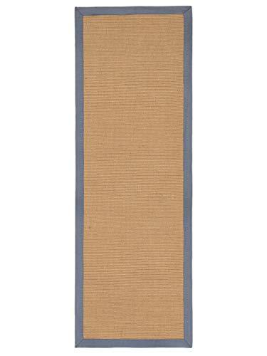 CarpetFine Tappeto passatoia Sisal Grigio 80x400 cm   Tappeto Moderno per Soggiorno e Camera da Letto