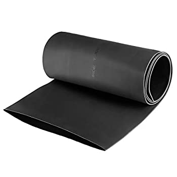 uxcell Heat Shrink Tubing 120mm Dia 191mm Flat Width 2 1 Ratio Shrinkable Tube Cable Sleeve 1m - Black