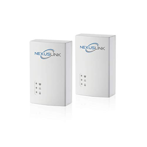 NexusLink G.hn Powerline Ethernet Adapter | 1200Mbps | Gigabit Port, Power Saving, Home Network Expander with Stable Ethernet Connection for Online Gaming, Video Streaming | 2-Unit Kit (GPL-1200-KIT)