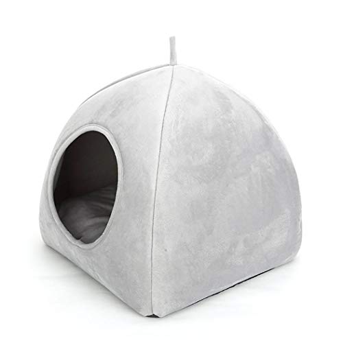 Adolenb Práctico Lindo Forma Suave sólido Lavable hogar cálido Cama para Mascotas Suministros para Camas