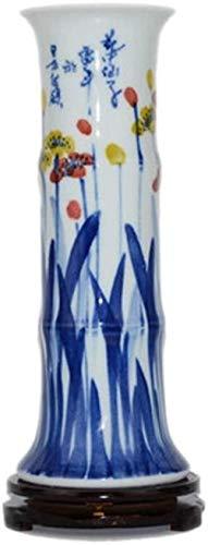 Vaas keramische vaas Handmade Crafts Met Base Cilinder Water Cultuur planten kunnen worden geplaatst in het TV-meubel Nachtkastje huishoudens, kantoren, bruiloft, feest 36.5cm * 12.5cm), Afmetingen: 4