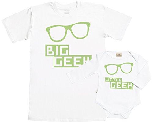 Spoilt Rotten Big Geek & Little Geek Conjunto de Regalo para Padres y bebés - En Caja de Regalo - Padre Camiseta & bebé Body