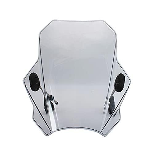 Parabrisas Moto Parabrisas Ajustable para Motocicleta para G310R R1150 F800R Z650 Z900 Z1000 Z800 Z750 Z250 Z300 Z400 (Color : Light Grey)
