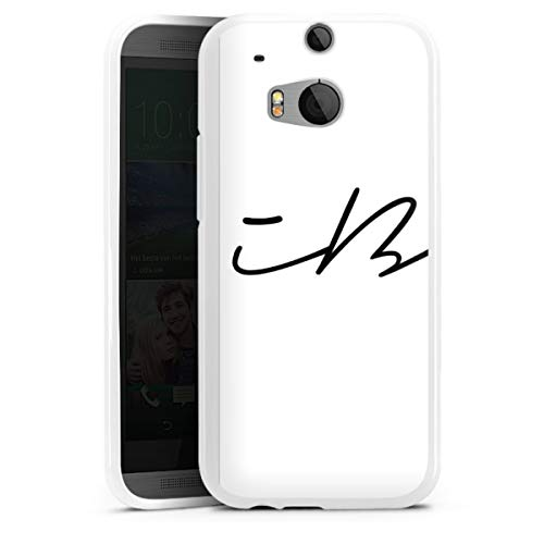 DeinDesign Silikon Hülle kompatibel mit HTC One M8s Hülle weiß Handyhülle iBlali Youtuber YouTube