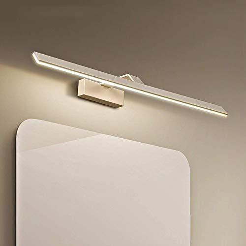 Moderno cuarto de baño Espejo de luz IP44 1200Lm 3000K Espejo Luz delantera Lámpara de pared de tocador de aluminio 180 & ordm;Iluminación de belleza de maquillaje de balancín para tocador, 58CM9W