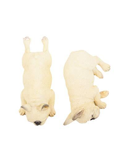 Petorama 100% Handmade Hand Painted Collectible Grade Premium Lifelike Realistic Gift Sleeping French Bulldog Statue Set (1) 1:6 (1)