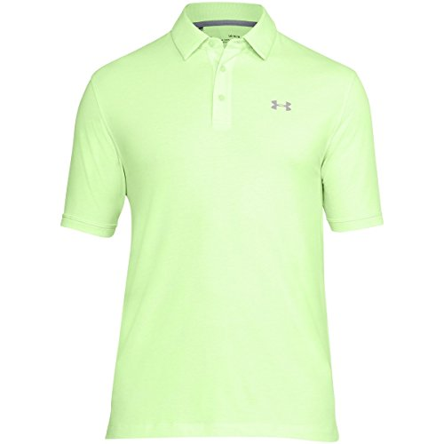 Under Armour Charged Cotton Scramble Polo de Manga Corta para Hombre, Charged Cotton Scramble Polo, Hombre, Color Lumos Lima/Zinc Gris...