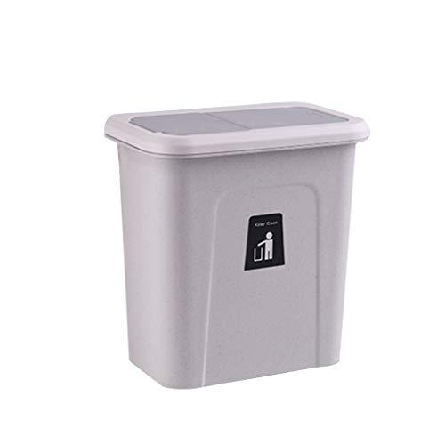 Bin/ Papelera de reciclaje Bote de basura para cocina - Caja de almacenamiento montada en la pared de la puerta del gabinete de la cocina, mini bote de basura de escritorio (5 L / 1.3 galones) Papeler