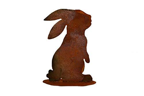 Grille de Pâques Décoration Lapin helostoma Lapin avec oreilles, hauteur 17 cm