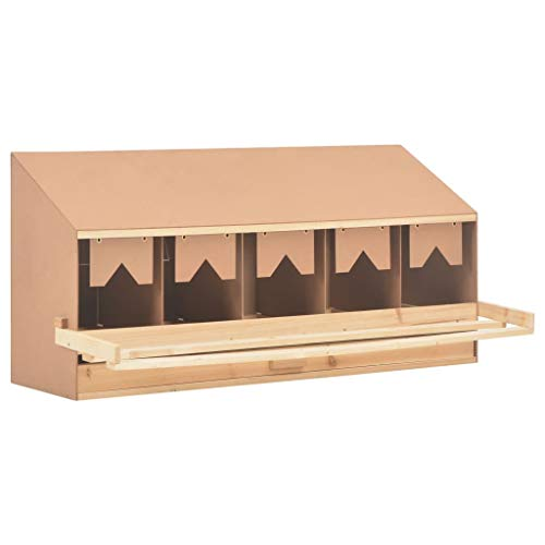 clasificación y comparación vidaXL Pollo de desove Nido de 5 compartimentos Pollo de desove Techo de gallinero de 5 agujeros… para casa