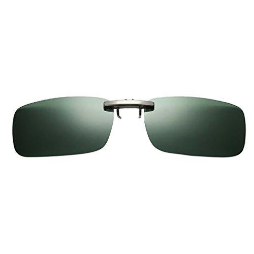 Colcolo Clip de Pesca Polarizado en El Volante Gafas de Sol para Conducir - verde oscuro, como se describe