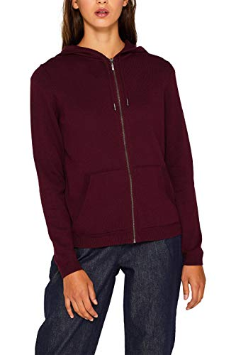 edc by ESPRIT Damen 999Cc1I808 Strickjacke, Rot (Bordeaux Red 600), Small