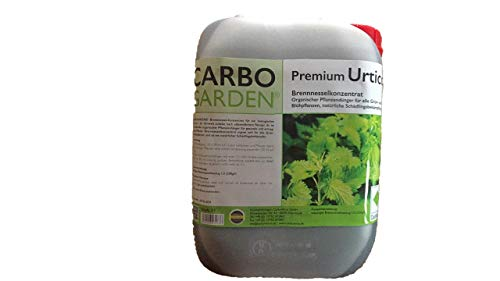 CARBOGARDEN Hochwertigstes Premium Brennnesselkonzentrat 5 Liter, flüssig, Zur organischen Düngung und Schädlingsbekämpfung, 100{5bcd67f1ecf756beba538d979eaa35b90e607c92bdeebb943711af2e47365536} Bio