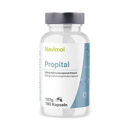 Propital - 180 Kapseln | 500mg Natriumpropionat pro Kapsel | Das reine Salz der Propionsäure | Lebensmittelzusatzstoff | Qualität aus Deutschland