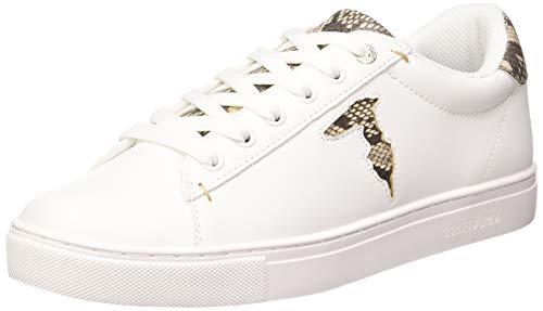Trussardi Jeans Sneaker ECOLEATHER Python PRI, Scarpe con Lacci Donna, E683, 40 EU