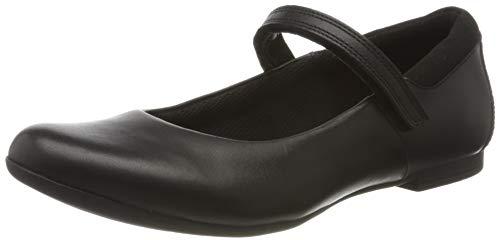 Clarks Scala Dawn Y, Ballerines Femme, Noir (Black Leather Black Leather), 37.5 EU
