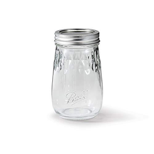 Ball Flute Jars, 16 Ounces, 4 pack