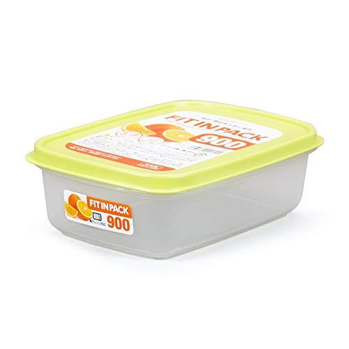 YUMEIGE Cosmetische borstel opbergdoos Koelkast vers houdend doos, bevroren fruit en fruit opbergdoos met deksel, Bento box, verzegelde plastic kom, transparant materiaal, stapelbare opslag
