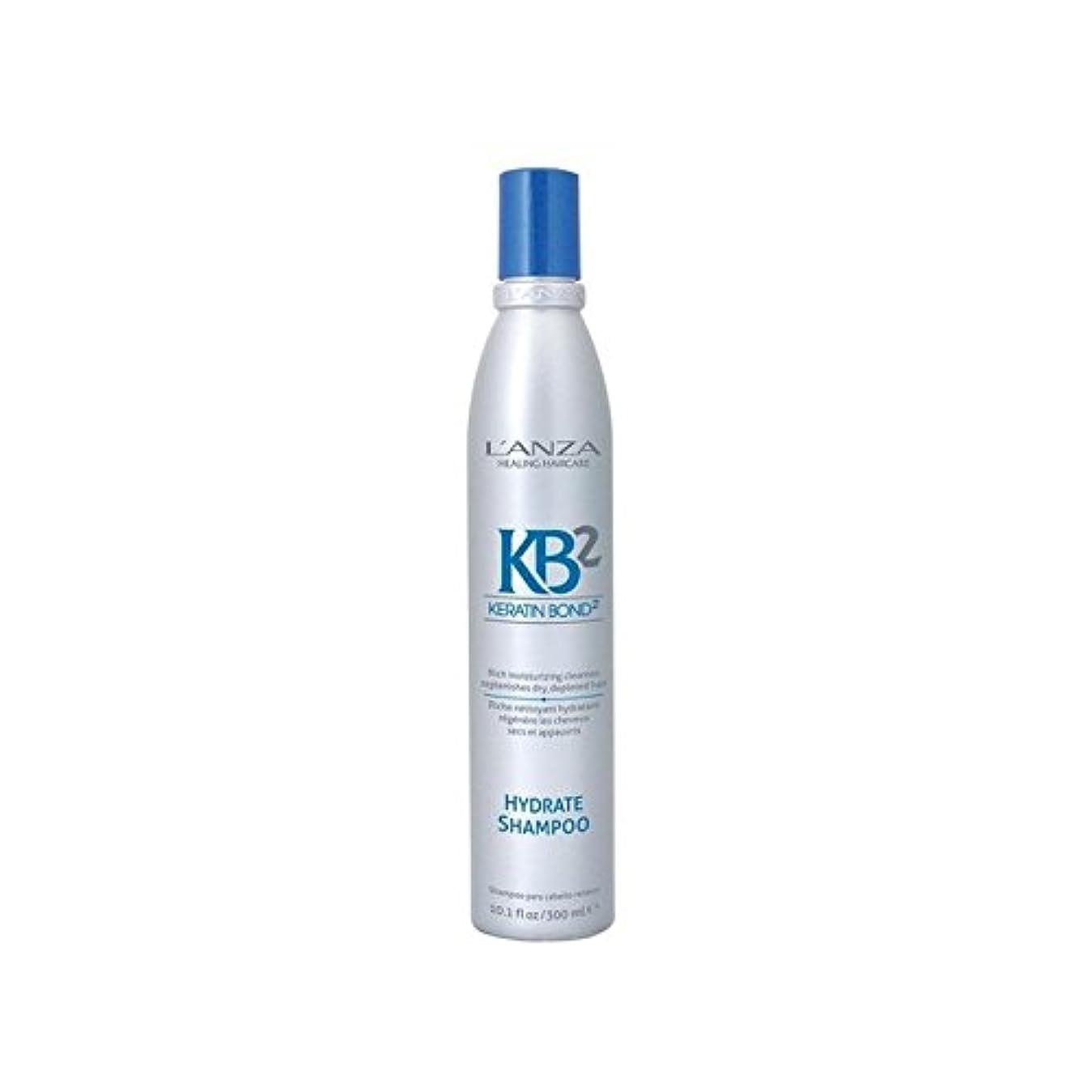 通り首尾一貫した満足させるアンザ2和物シャンプー(300ミリリットル) x4 - L'Anza Kb2 Hydrate Shampoo (300ml) (Pack of 4) [並行輸入品]