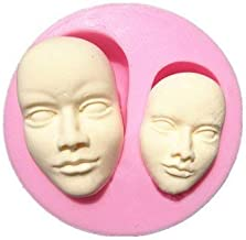 RETAIL SUPPLIES Human Face Silicone Fondant Mold Chocolate Polymer Clay Mould