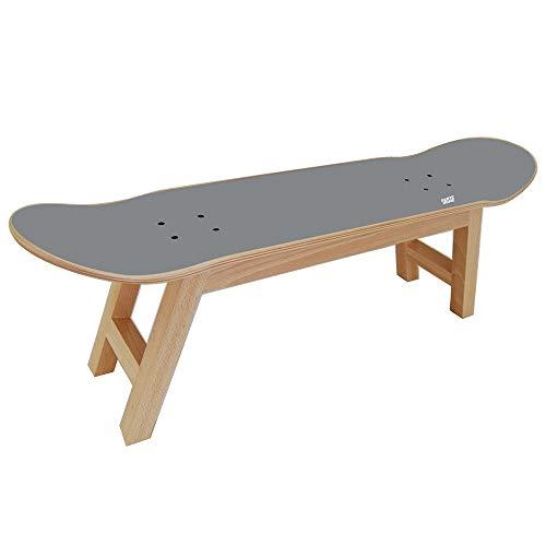 Skateboard Dekoration für Skater Geschenk für Jugendzimmer, Hocker grau