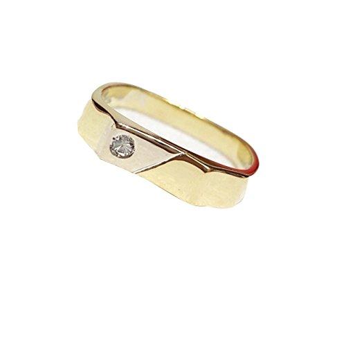 Herenring, van 18-karaats goud, met een diameter van 0,03CT G VVS MIGLIOR! 4,00 g.