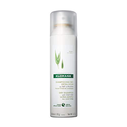 Klorane Champú seco suave con leche de avena en polvo spray 150ml - Todos los tipos de cabello
