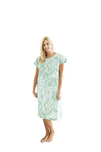 Gownies - Designer Hospital Patient Gown, 100% Cotton, Hospital Stay (Large/X-Large, Marie)