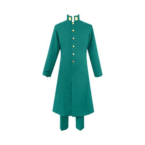 Oppinty Vestido japonés Fotografía Cosplay Disfraz JoJo's Bizarre Adventure Kakyoin Noriaki / Kakyouin Noriaki Anime Rompevientos trajesXL Traje de niño verde