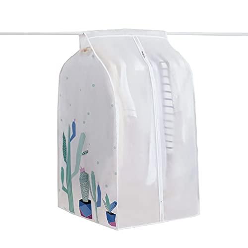 JHMIH Lightweight Garment Bag, Clothes Dust Cover with Zipper Ideal,Suit Bags for Dresses, Suits, Coats, Jackets, Trousers, 2pcs White