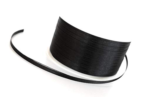 Satinband  50m x 3mm Schwarz