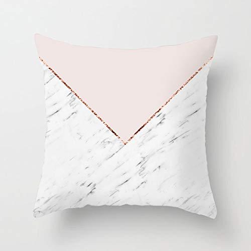 NQING Funda De Almohada Geométrica para Sofá De La Serie Rosa Simple, Funda De Almohada Cuadrada General Extraíble Y Lavable, Adecuada para Sofá, Dormitorio, Productos De Oficina para El Hogar