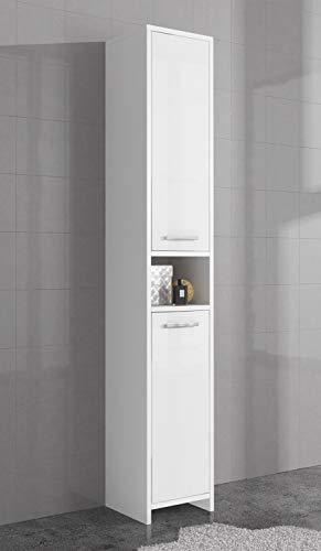 Badplaats freistehender Hochschrank fürs Badezimmer, 168cm hoch, in Hochglanzweiß