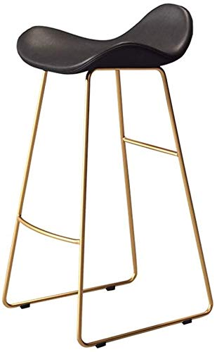 LJBXDCZ NJ barkruk barkruk zwart kunstleer zitkeukenbar hoogte kruk barkruk ontbijt stoel voetsteun met metalen voet voor Pub Coffee Home Dinning (65/70 / 75cm) 3,16